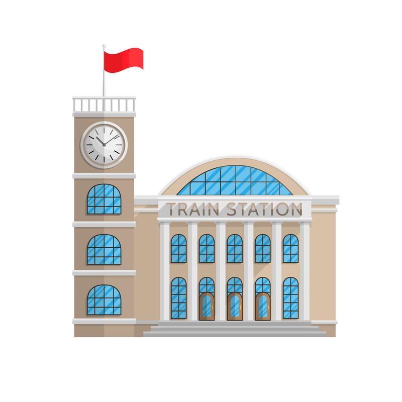 デフォルメ駅舎